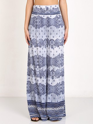 Somedays Lovin Open Eyes Split Palazzo Pant Blue Print