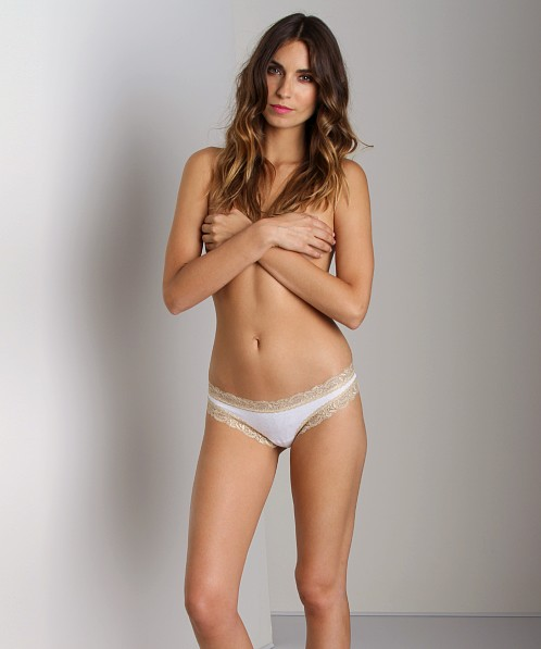 Fleur't Low Rise Thong White/Nude