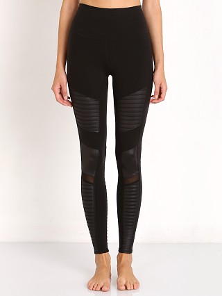 alo High Waisted Moto Legging Black