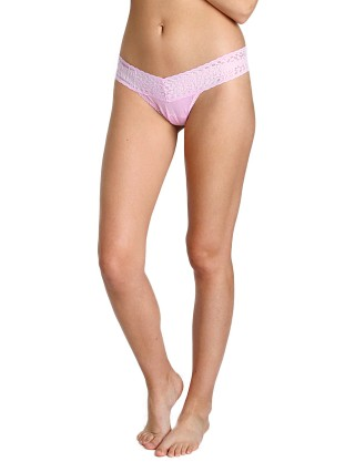 Hanky Panky Logo To Go Low Rise Thong Cotton Candy