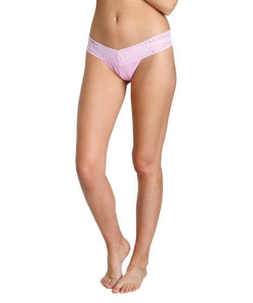 db92a757857b Hanky Panky Logo To Go Low Rise Thong Cotton Candy 631581P - Free Shipping  at Largo Drive