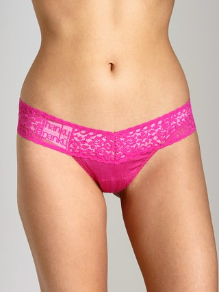 Hanky Panky Logo To Go Low Rise Thong Very Berry