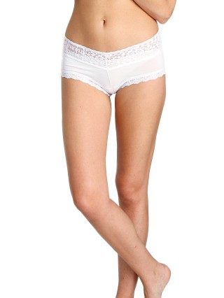 Complete the look: Hanky Panky Logo To Go V Front Boyshort White