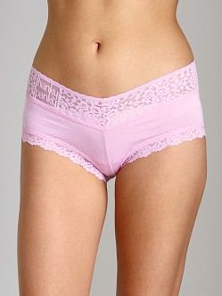 Hanky Panky Logo To Go V Front Boyshort Cotton Candy