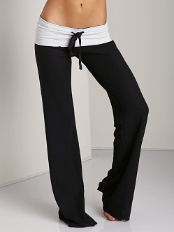 Tylie Malibu Double Face Wide Leg Pant Black