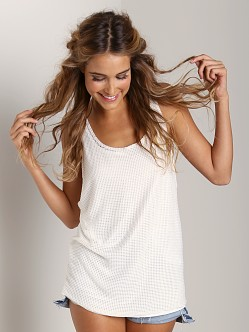 Tylie Malibu Mesh Low Side Tank White