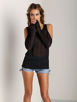 Tylie Malibu Knit Cut Out Sweater Black
