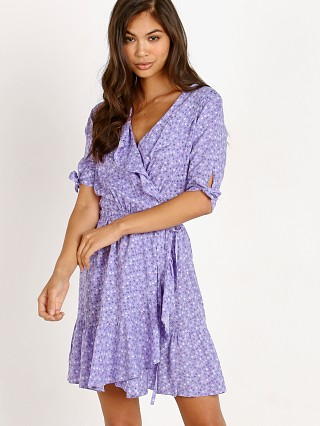 Auguste the Label Daphne Crop Sleeve Wrap Mini Dress Lavender