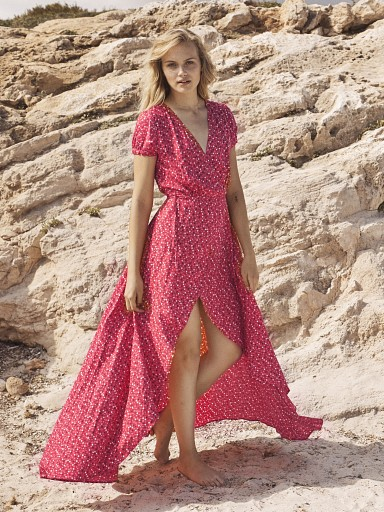 Auguste the Label Daphne Easy Days Wrap Dress Red
