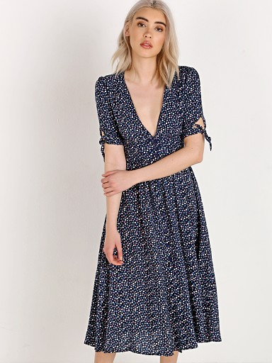 Auguste the Label Daphne Tie Sleeve Dress Navy