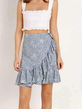 Auguste the Label Edie Sweetheart Wrap Mini Skirt Dusty Blue