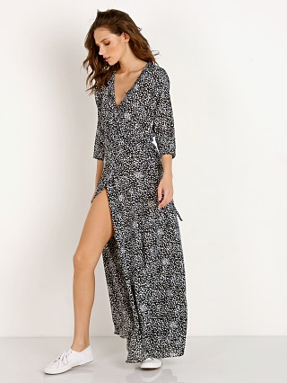 Auguste the Label Edie Sweetheart Wrap Maxi Dress Black