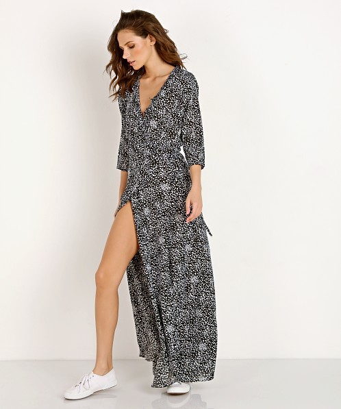 d6beaa4f63b Auguste the Label Edie Sweetheart Wrap Maxi Dress Black AFL2-18026-BK - Free  Shipping at Largo Drive