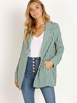 Model in cabana girl Flynn Skye Blair Blazer
