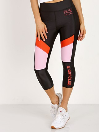 PE NATION First Innings Legging Black + Pink