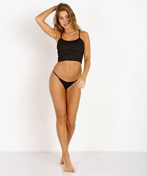 Solid & Striped The Kate Bikini Bottom Black Rib