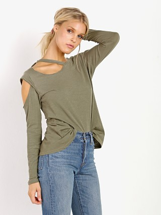 LNA Clothing Hamilton Long Sleeve Dusty Olive Potassium
