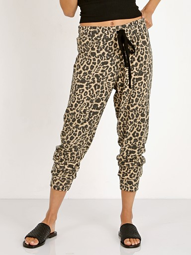 LNA Clothing Brushed Leopard Pant