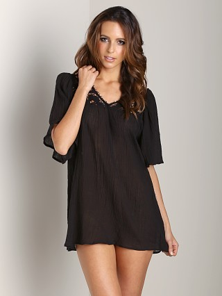 Eberjey Gypsy Traveler Sam Tunic Black