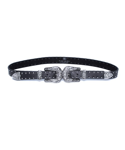B Low The Belt Baby Bri Bri Studded Hip Belt Black Silver