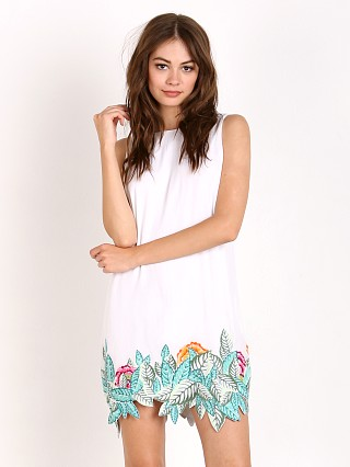 Mara Hoffman Leaf Embroirdered Dress White