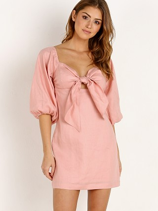 Suboo Pink Sands Tie Front Mini Dress Dusty Pink