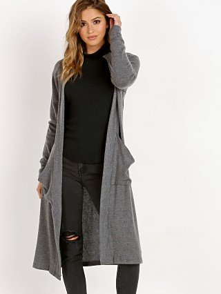Model in marengo LNA Clothing Dev Cardigan