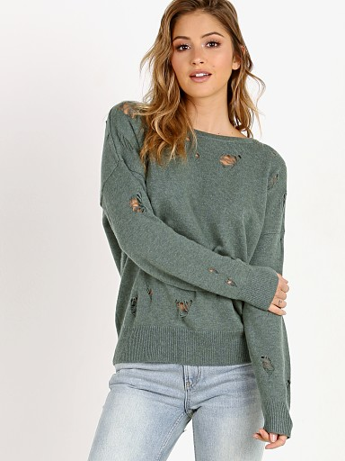 LNA Clothing Carlton Distressed Sweater