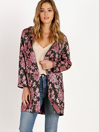 For Love & Lemons Luella Layering Coat Metallic Jacquard