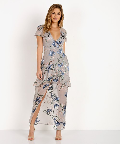 0cc86dd71497 For Love & Lemons Cleo Floral Maxi Dress CD1653B-H017 - Free Shipping at Largo  Drive