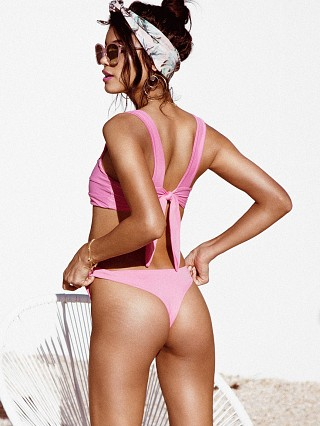 Model in hot pink Kaohs Salty Bikini Bottom