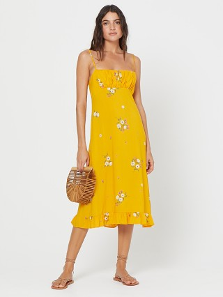 Auguste the Label Lotta Davis Midi Dress Yellow