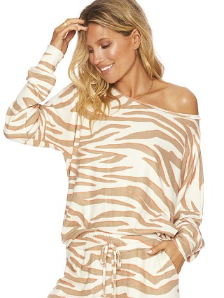 Beach Riot Sofia Sweater Cloud Cream Zebra