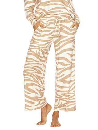 Beach Riot Hailey Pant Cloud Cream Zebra