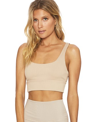 Beach Riot Leah Sports Bras Top Tan