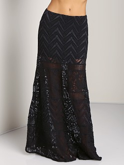 Jen's Pirate Booty Egyptian Musk Maxi Skirt Black