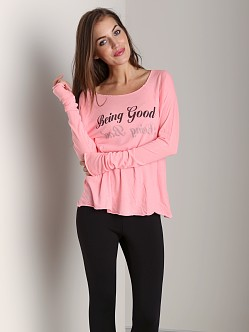 Wildfox Couture Cozy Raglan Being Good/Being Bad