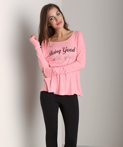WILDFOX Cozy Raglan Being Good/Being Bad