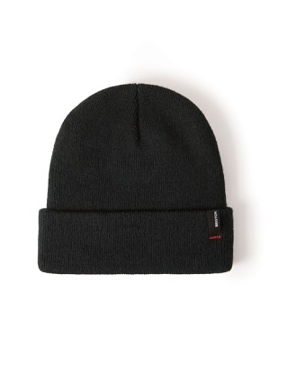 Model in black Brixton Heist Beanie