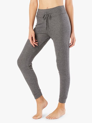 Model in heather grey Beyond Yoga Luxe Lounge Around Midi Jogger