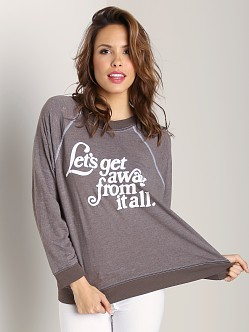 WILDFOX Kim's Sweater Let's Get Away Firestone