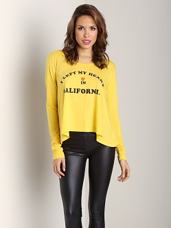 WILDFOX Lazy Weekend Tee Love in Cal Sunflower