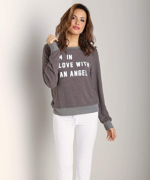 WILDFOX Baggy Beach Jumper I'm in Love with Angel Firestone