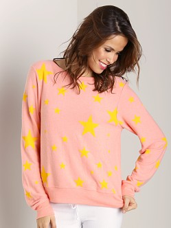 WILDFOX Baggy Beach Jumper Disco Star 70's Lipstick