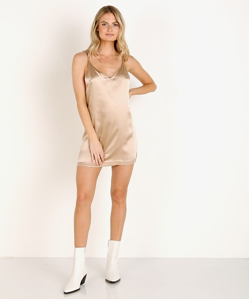Only Hearts Silk Reversible Slip Dresss Nude