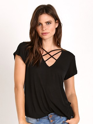 LNA Clothing Triple Cross Tee Black