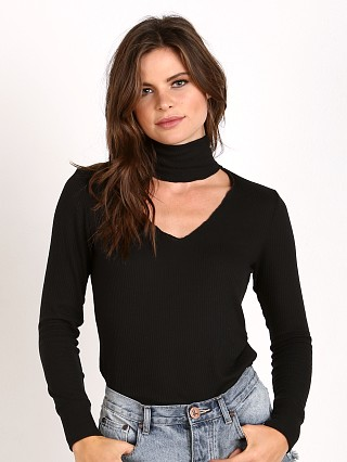 LNA Clothing Detached Turtleneck Black