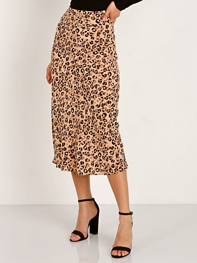 ASTR the Label Midi A Line Skirt Leopard Print