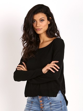Splendid Crop Sweater Black
