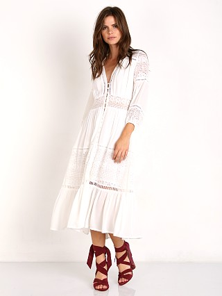 Spell Olivia Luxe Lace Midi Dress White